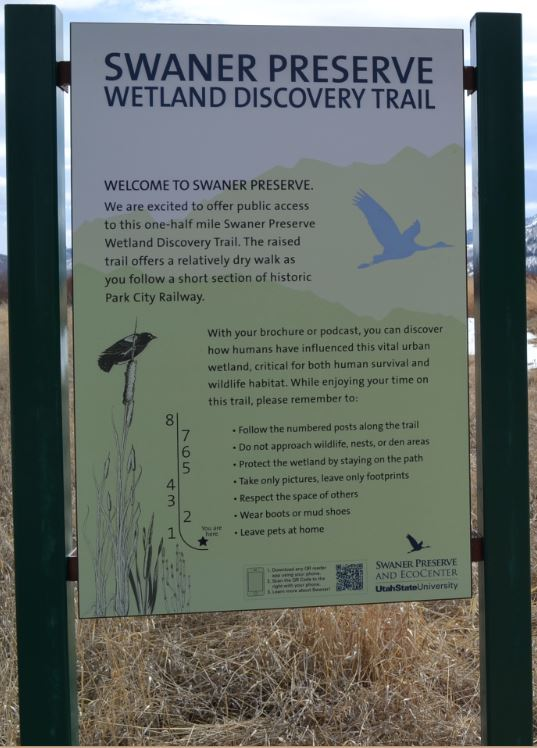 Wetland Discovery Trail Sign